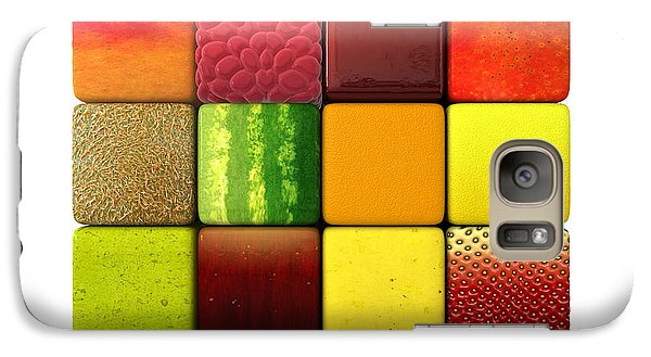 Mango Galaxy S7 Case - Fruit Cubes by Allan Swart