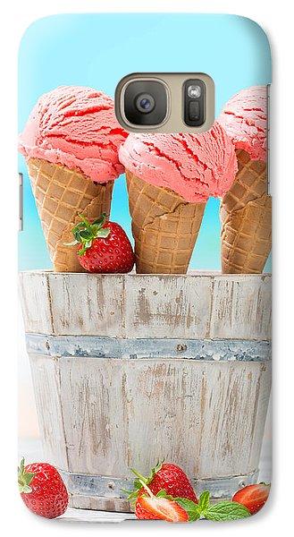 Fruit Ice Cream Galaxy S7 Case by Amanda Elwell