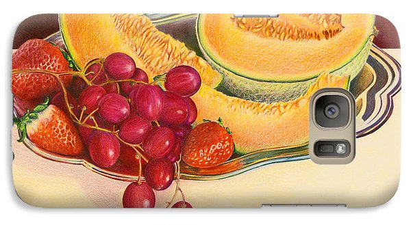 Galaxy Case featuring the painting Fruit Platter by Mariarosa Rockefeller