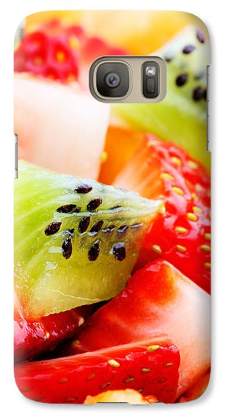 Fruits Galaxy S7 Case - Fruit Salad Macro by Johan Swanepoel