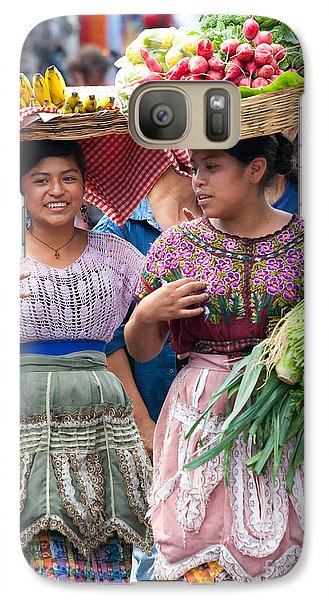 Fruit Sellers In Antigua Guatemala Galaxy Case by David Smith