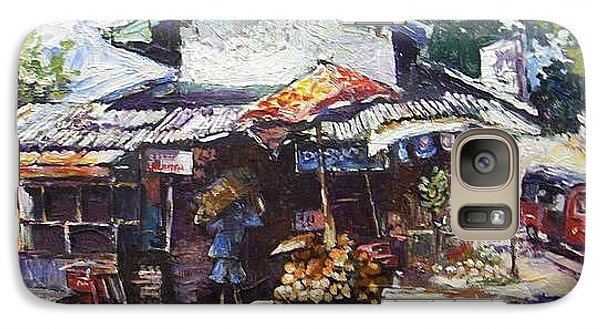 Galaxy Case featuring the painting Fruit  Shop In Srilanka by Paul Weerasekera