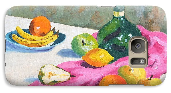 Galaxy Case featuring the painting Fruit Still Life by Val Miller