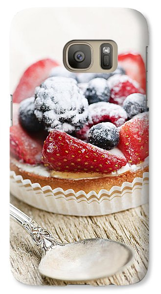 Fruit Tart With Spoon Galaxy S7 Case by Elena Elisseeva