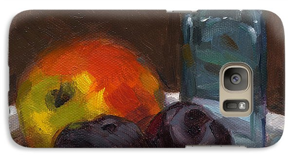 Galaxy Case featuring the painting Fruition by Nancy  Parsons