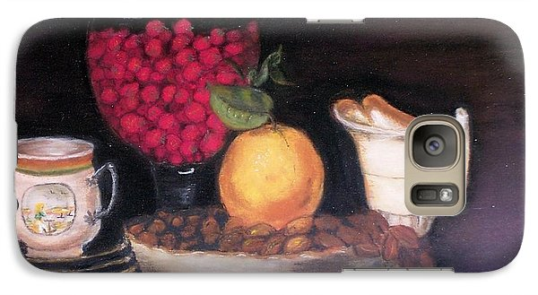 Galaxy Case featuring the painting Fruits And Nuts by Debbie Baker