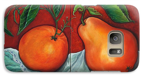 Galaxy Case featuring the painting Fruits Pears by Yolanda Rodriguez