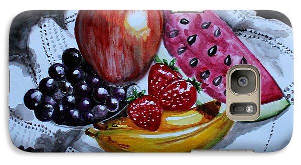 Galaxy Case featuring the painting Fruits  by Saranya Haridasan