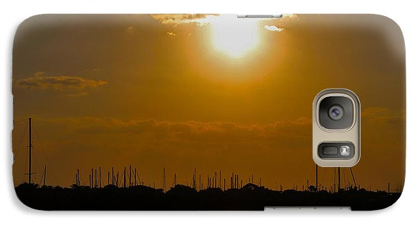 Galaxy Case featuring the photograph Ft. Pierce Florida Docks At Dusk by Janice Rae Pariza