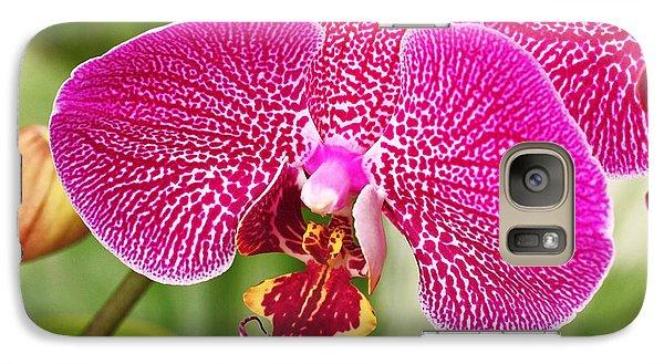 Fuchsia Moth Orchid Galaxy Case by Rona Black