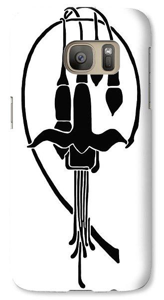 Galaxy Case featuring the drawing Fuchsia Stencil Art by Karon Melillo DeVega