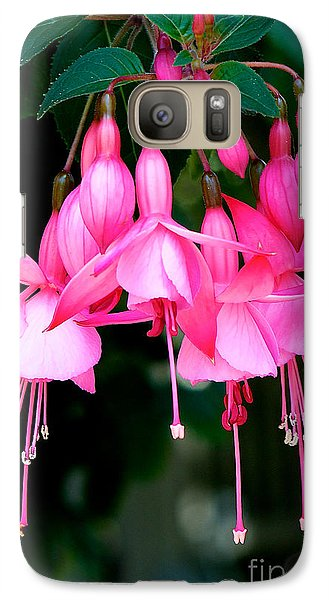 Galaxy Case featuring the photograph Fuchsia  by Vinnie Oakes