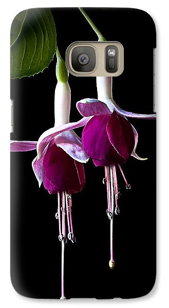 Galaxy Case featuring the photograph Fuchsias by Endre Balogh