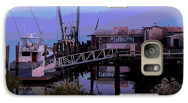 Galaxy Case featuring the painting Old Brunswick Fuel Dock by Laura Ragland