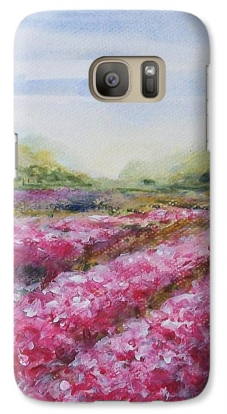 Galaxy Case featuring the painting Full Bloom by Jane  See