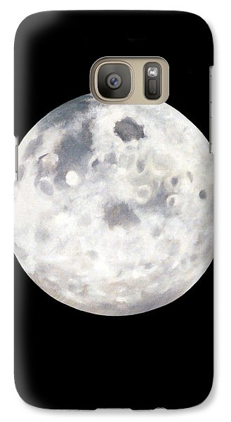 Galaxy Case featuring the painting Full Moon In Black Night by Janice Dunbar