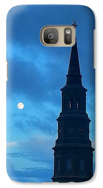 Galaxy Case featuring the photograph Full Moon In The Holy City by Joetta Beauford