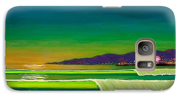 Venice Beach Galaxy S7 Case - Full Moon On Venice Beach by Frank Strasser
