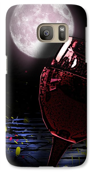Galaxy Case featuring the painting Full Moon by Persephone Artworks
