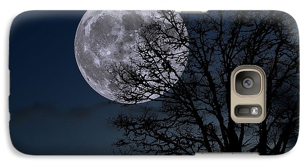 Galaxy Case featuring the photograph Full Moon Rising by Dennis Bucklin