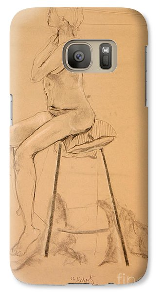 Galaxy Case featuring the digital art Full Nude Profile by Gabrielle Schertz
