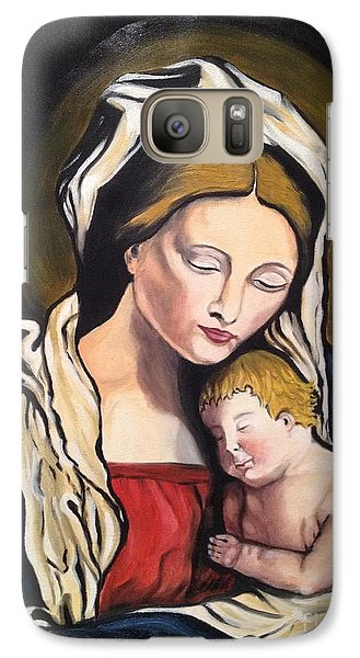 Galaxy Case featuring the painting Full Of Grace by Brindha Naveen
