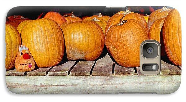Galaxy Case featuring the photograph Fun Pumpkin by Tom Brickhouse