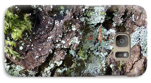 Galaxy Case featuring the photograph Fungus Bark by Laurie Tsemak