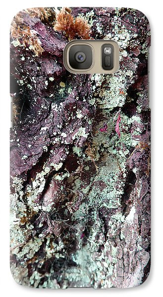 Galaxy Case featuring the photograph Fungus Bark Purple by Laurie Tsemak