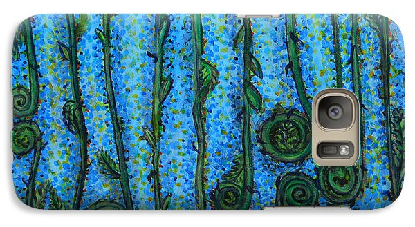 Galaxy Case featuring the painting Funky Fiddleheads by Cynthia Lagoudakis