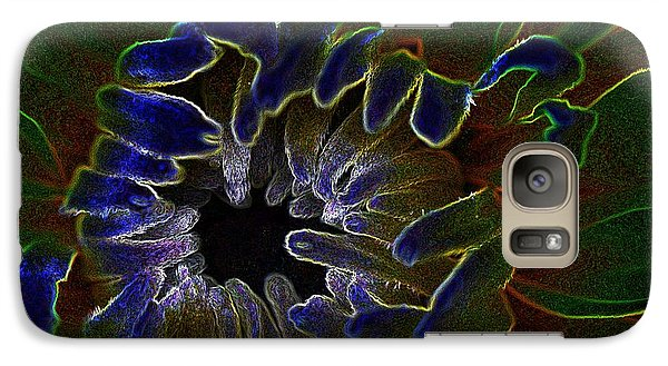 Galaxy Case featuring the photograph Funky Flower by Judy Wolinsky