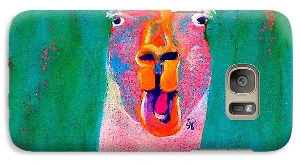 Funky Llama Art Print Galaxy S7 Case