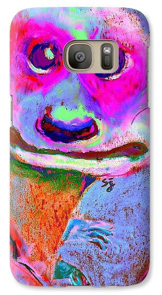 Funky Meerkat Tunnel Art Print Galaxy S7 Case