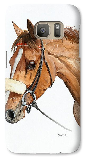 Galaxy Case featuring the painting Funny Face by Janina  Suuronen