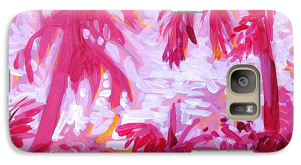 Galaxy Case featuring the painting Fuschia Landscape by Tilly Strauss