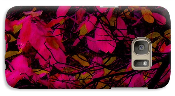 Galaxy Case featuring the digital art Fuscia Leaves by Kristen R Kennedy