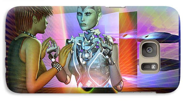 Galaxy Case featuring the digital art Futuristic Reality by Shadowlea Is