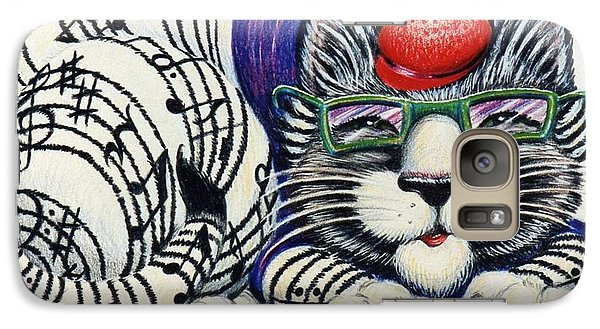 Galaxy Case featuring the drawing Fuzzy Catterwailen by Dee Davis