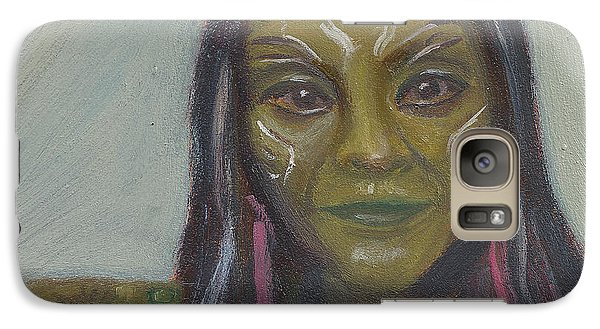 Galaxy Case featuring the painting G Is For Gamora by Jessmyne Stephenson