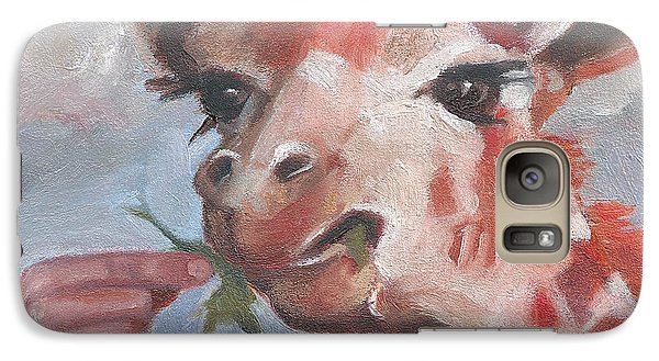 Galaxy Case featuring the painting G Is For Giraffe by Jessmyne Stephenson