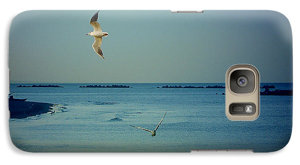 Galaxy Case featuring the photograph Gabbiani - Seagulls by Ze  Di