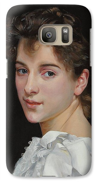 Galaxy Case featuring the painting Gabrielle Cot After W. Bougereau by Glenn Beasley