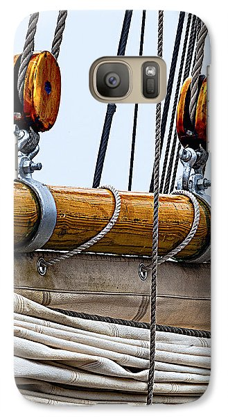Galaxy Case featuring the photograph Gaff And Mainsail by Marty Saccone