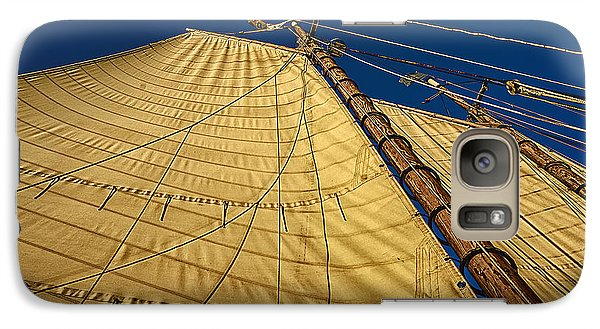 Galaxy Case featuring the photograph Gaff Rigged Mainsail by Marty Saccone