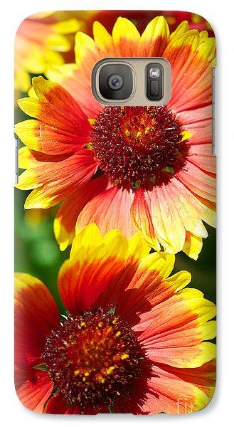 Galaxy Case featuring the photograph Gaillardia2x by Vinnie Oakes