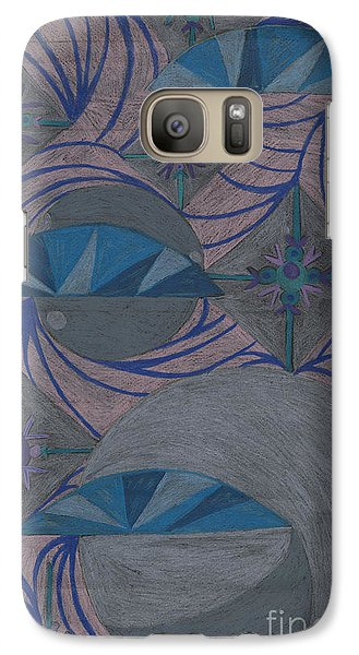 Galaxy Case featuring the drawing Galactic by Kim Sy Ok