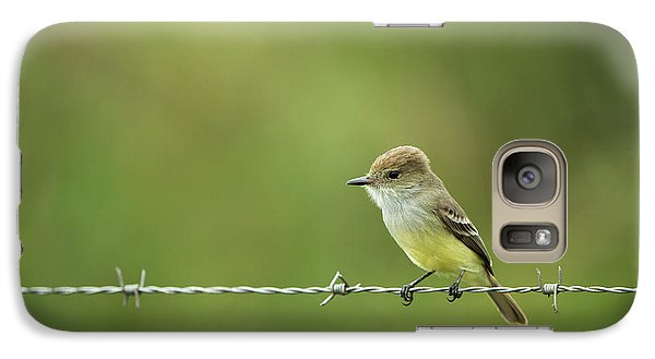 Flycatcher Galaxy S7 Case - Galapagos Flycatcher (myiarchus by Pete Oxford