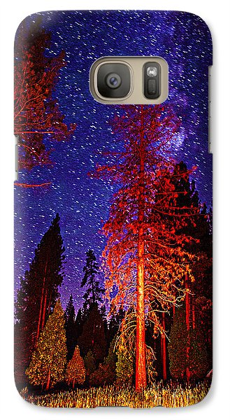 Galaxy Case featuring the photograph Galaxy Stars By The Campfire by Jerry Cowart