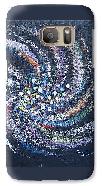 Galaxy Case featuring the painting Galaxy Swirl by Judith Rhue