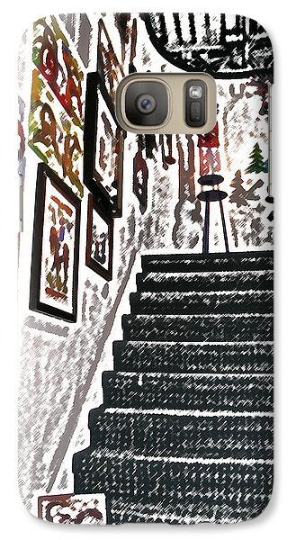 Galaxy Case featuring the digital art Gallery Stairs by Kathleen Stephens